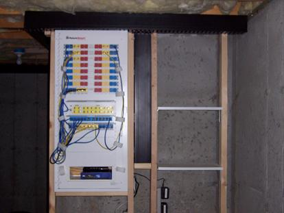 My Home Theater Wiring Room - Patch panel cabinet